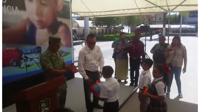 Mx Border Town Collects Toy Guns From Children