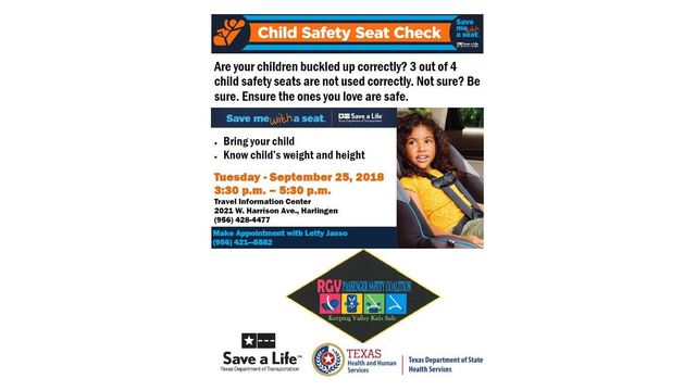 Save Me With A Seat Child Safety Check Scheduled For Harlingen