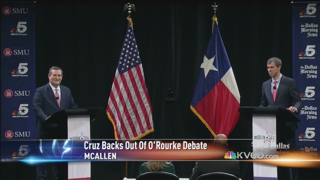 Sen. Ted Cruz backs out of CNN debate with Beto O'Rourke